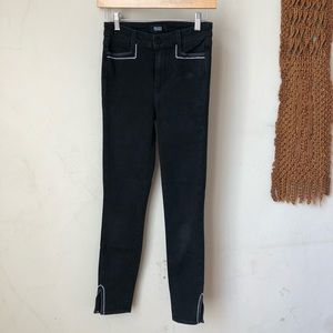 Embroidered Paige Skinny Jeans